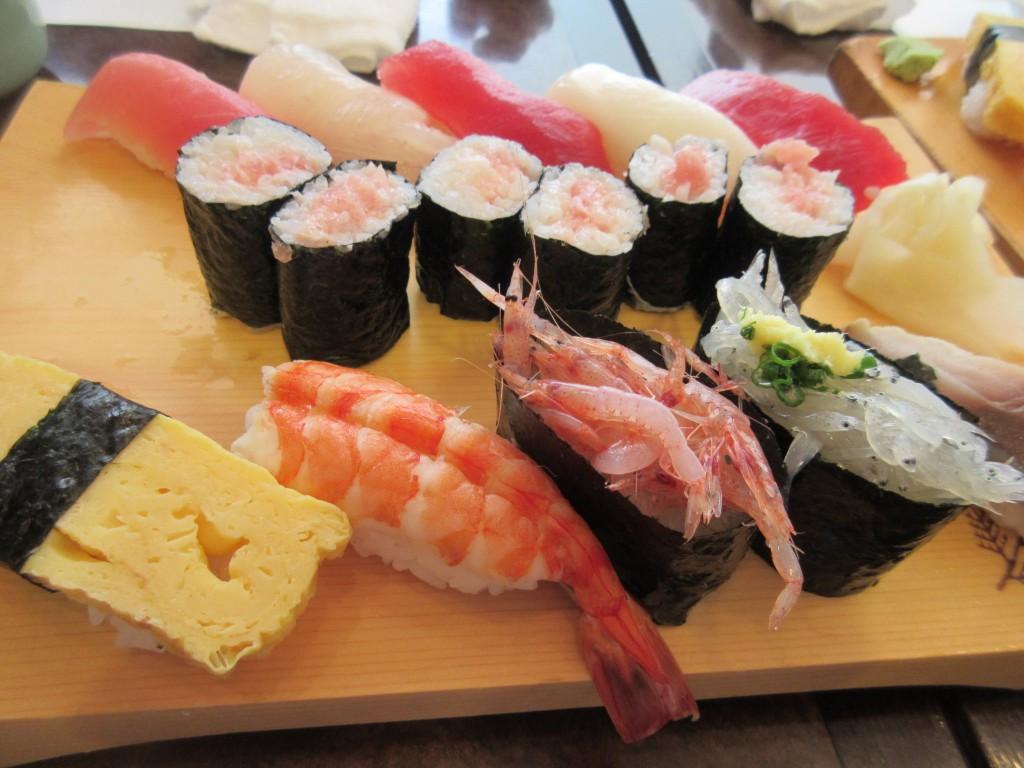 清水で食べたお寿司