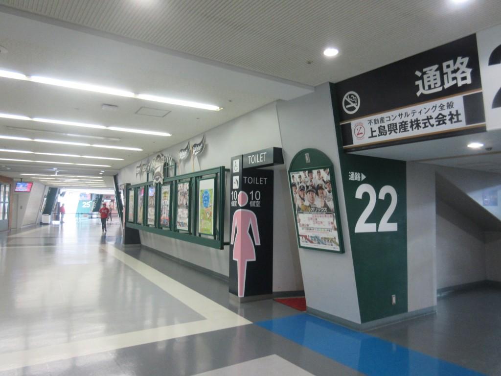 京セラドームの通路