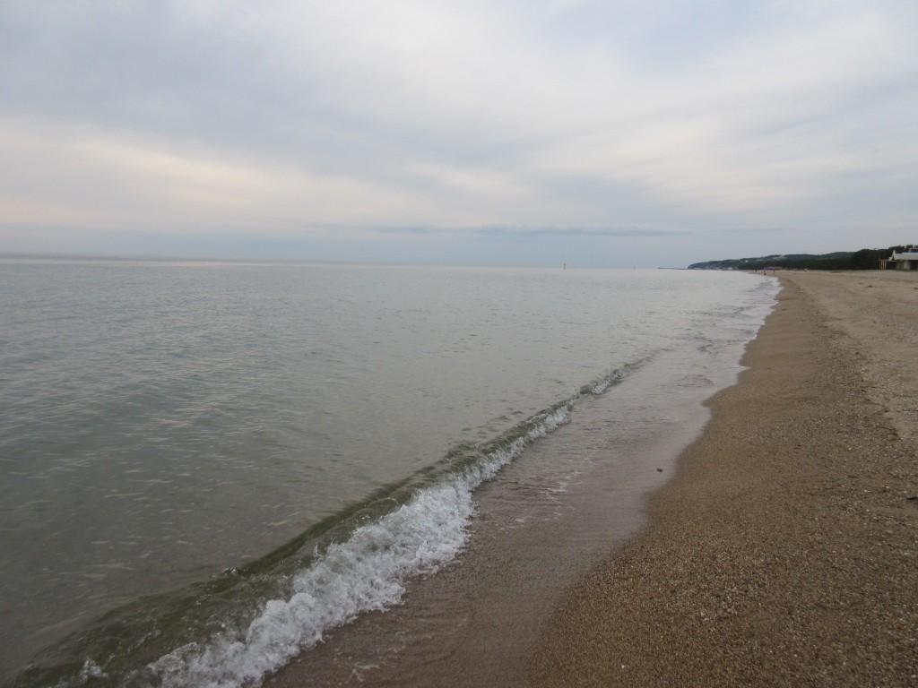あわじ浜離宮の前の砂浜