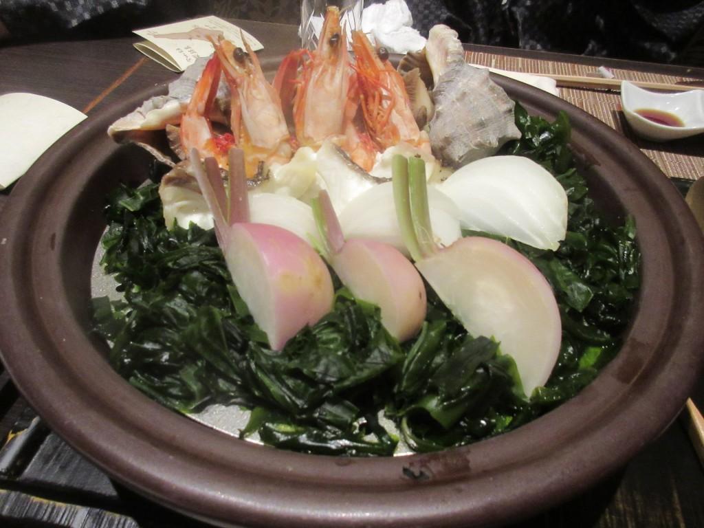 地魚とにし貝と海老のヴァプール