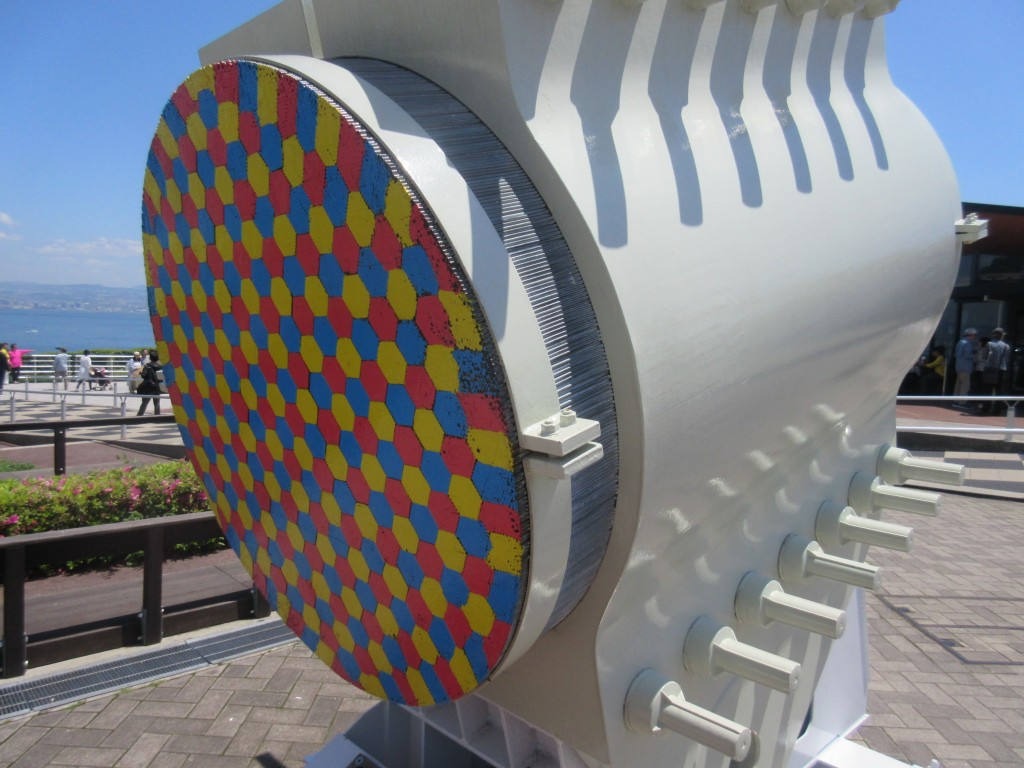 明石海峡大橋のケーブル模型