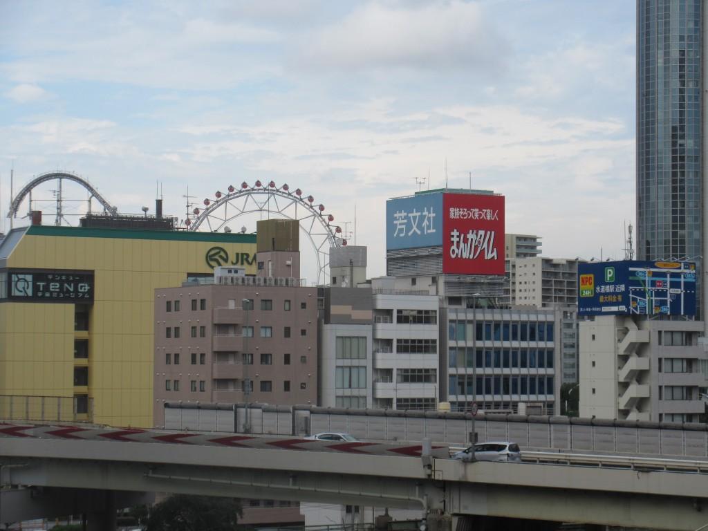 ホテルから見た東京ドームシティ